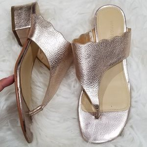 Marc Fisher Rose Gold Sandals